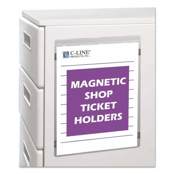 "C-Line Magnetic Shop Ticket Holder, Super Heavy, 50"", 9 x 12, 15/BX"