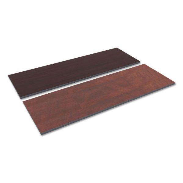 Alera Reversible Laminate Table Top, Rectangular, 71 1/2w x 23 5/8,Med Cherry/Mahogany