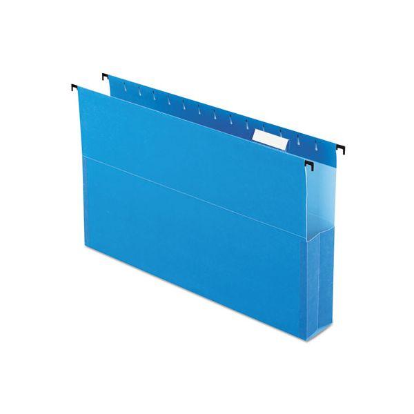 "Pendaflex SureHook Reinforced Hanging Box Files, 2"" Expansion, Legal, Blue, 25/Box"