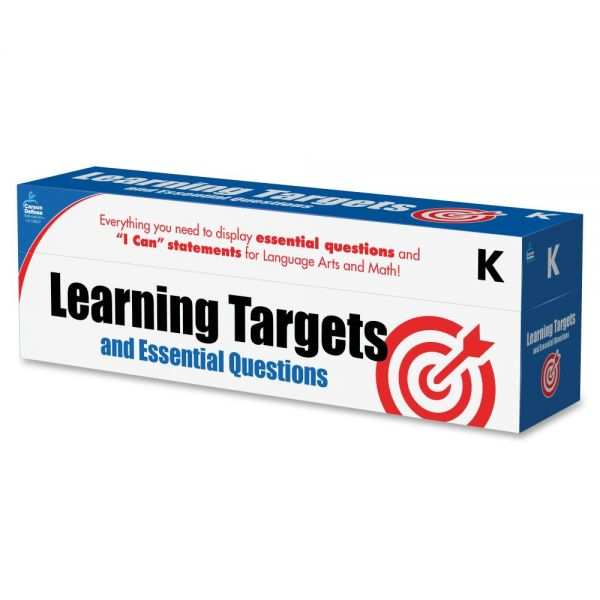 Carson-Dellosa Learning Targets and Essential Questions Pocket Chart Cards