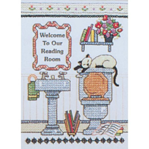 Reading Room Welcome Mini Stamped Cross Stitch Kit