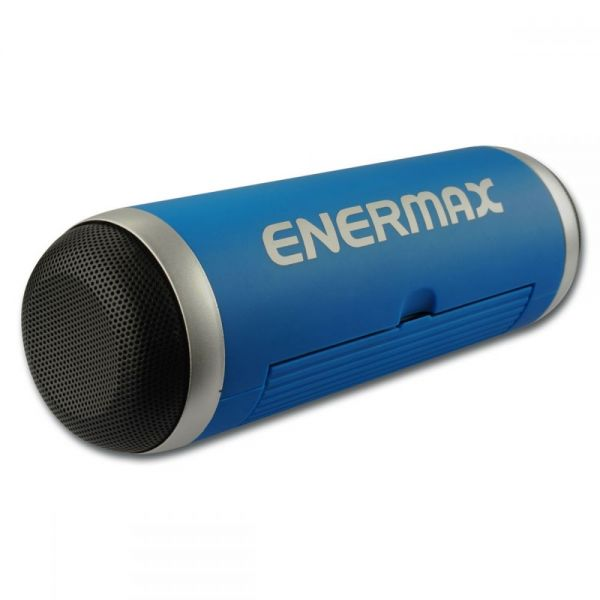 Enermax EAS01-BL Speaker System - 6 W RMS - Portable - Battery Rechargeable - Wireless Speaker(s) - Blue
