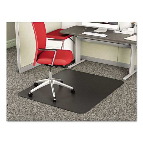 deflecto SuperMat Medium Pile Black Chair Mat