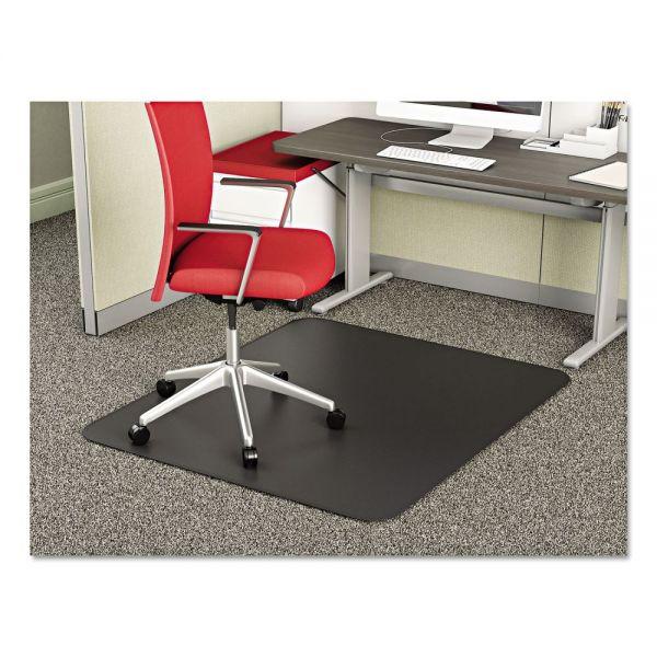 deflecto SuperMat Frequent Use Chair Mat, Medium Pile Carpet, Straight, 36 x 48, Black