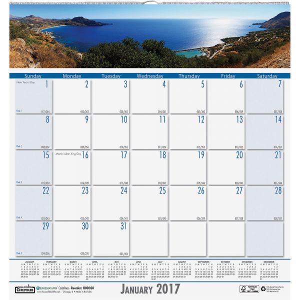 House of Doolittle Coastlines Monthly Wall Calendar