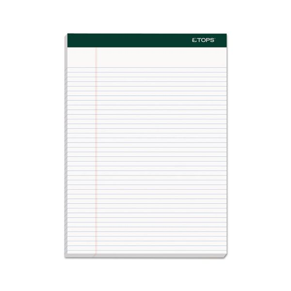 TOPS Double Docket Ruled Pads, 8 1/2 x 11 3/4, White, 100 Sheets, 4 Pads/Pack