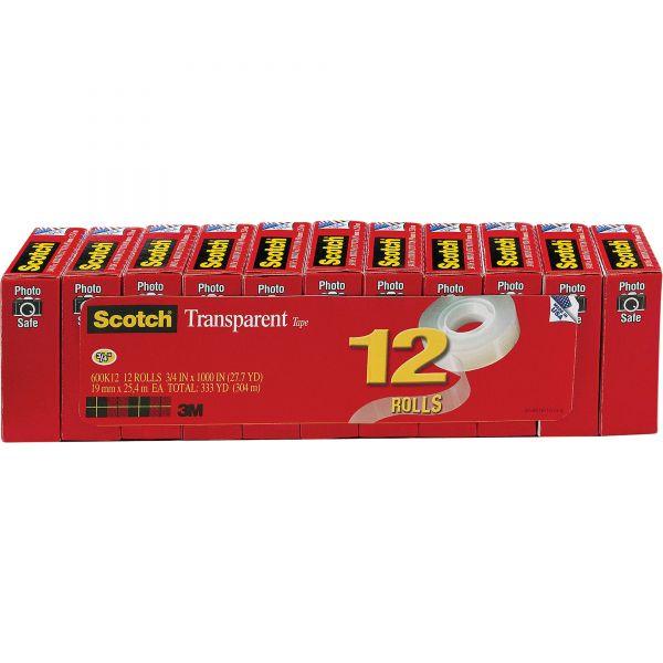 "Scotch 3/4"" Transparent Tape Refills"