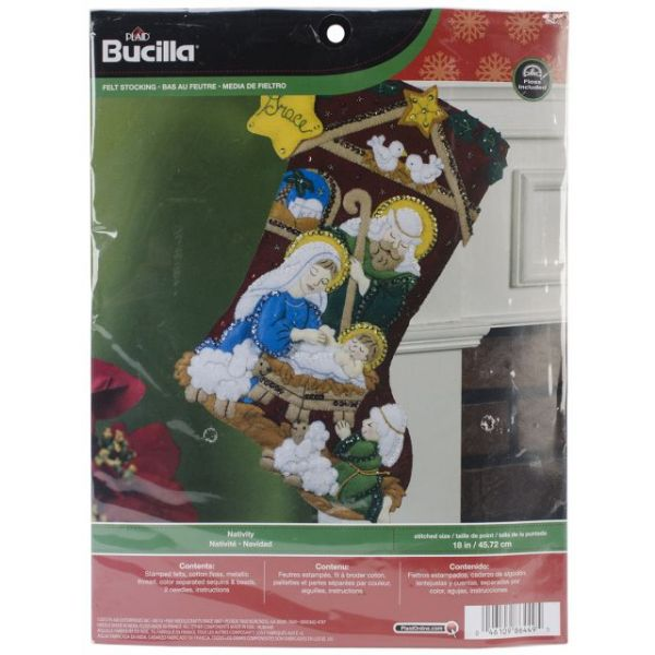 Nativity Stocking Felt Applique Kit