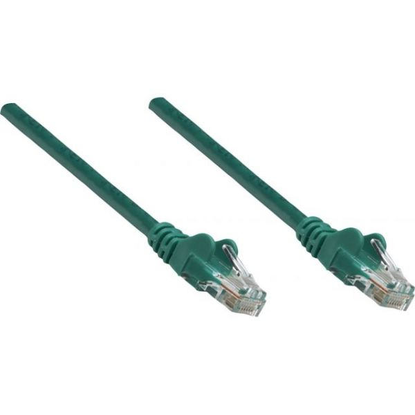 Intellinet Patch Cable, Cat5e, UTP, 10', Green