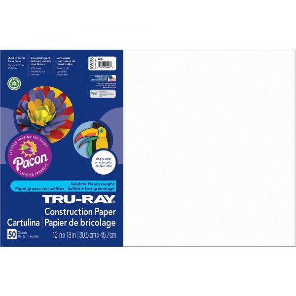 Tru-Ray White Construction Paper