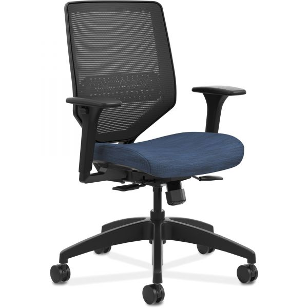 HON Solve Series Mid-Back Task Chair with Knit Mesh Back