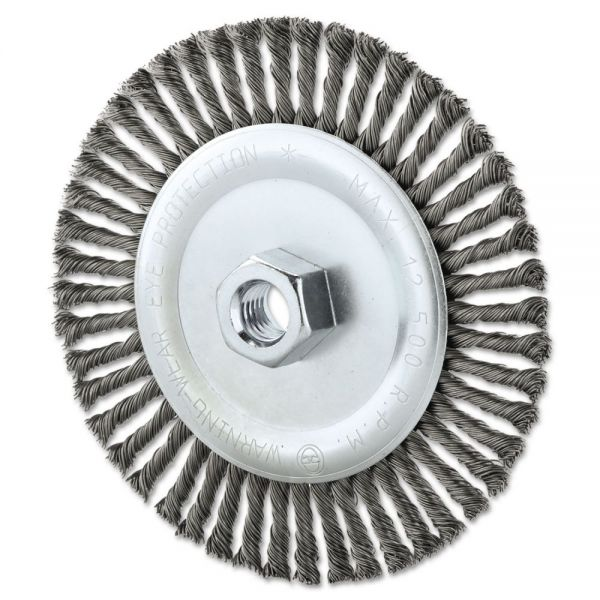 "Anchor Brand Stringer Bead Wheel Brush, 6"" Diameter, .02"" Wire, 5/8-11 TPI"