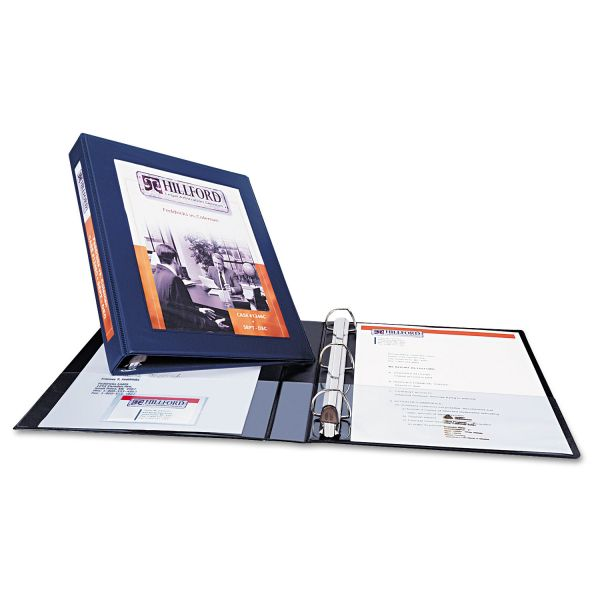 "Avery Framed View Heavy-Duty 3-Ring View Binder w/Locking 1-Touch EZD Rings, 1"" Capacity, Black"