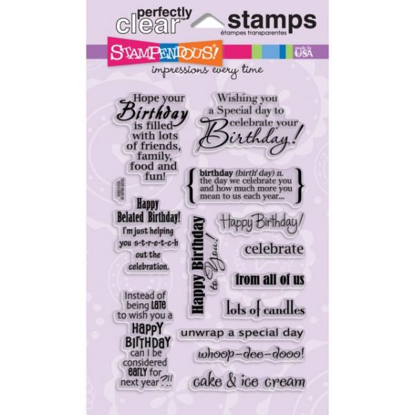 "Stampendous Perfectly Clear Stamps 4""X6"" Sheet"