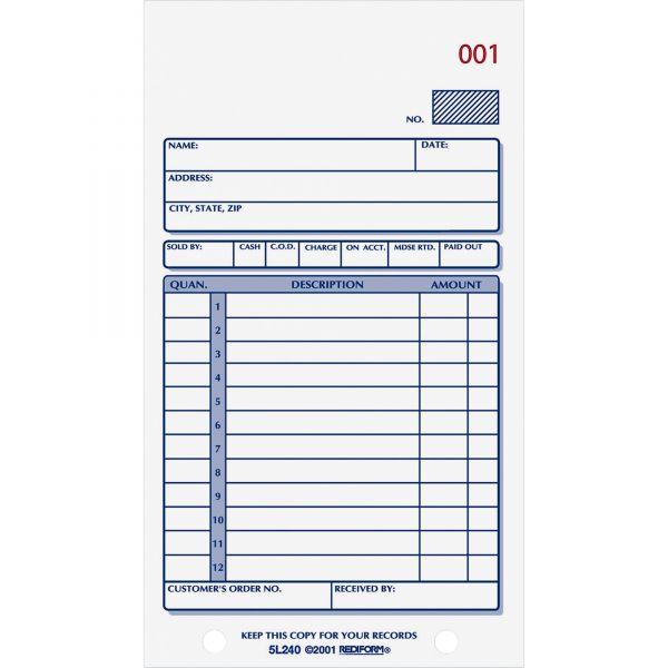 Rediform 2-Part Carbonless Sales Book Form