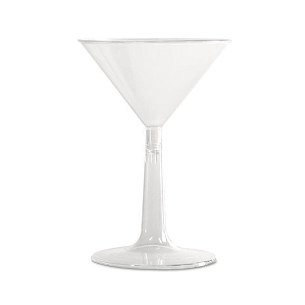 WNA Comet Two-Piece 6 oz Plastic Martini Glasses