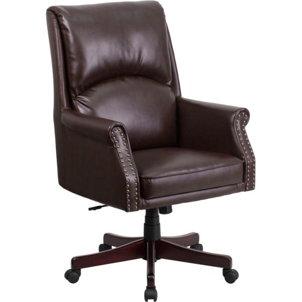 Flash Furniture Pillow Back Executive Swivel Office Chair [BT-9025H-2-BN-GG]