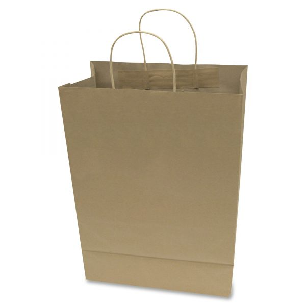 COSCO Premium Large Brown Paper Shopping Bags with Handles