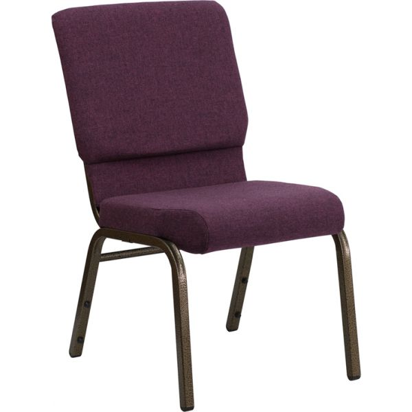 Flash Furniture Plum Big & Tall Church Chair