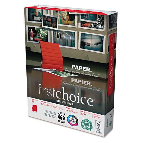 First Choice Three-Hole Punched Multi-Use White Copy Paper