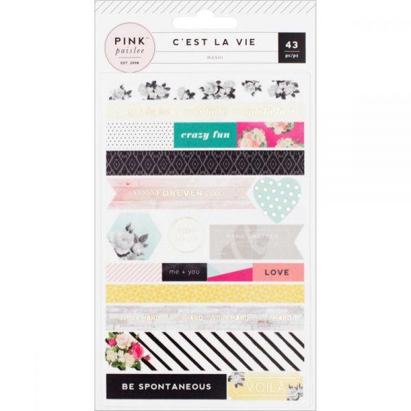 C'est La Vie Washi Shape Stickers 3/Sheets