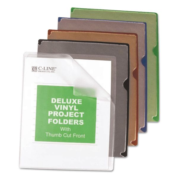 C-Line Deluxe Vinyl Project Folders