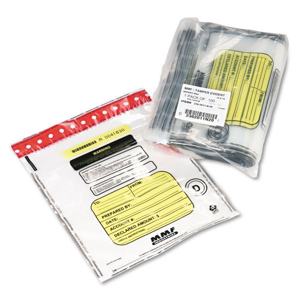MMF Industries FraudStopper Tamper-Evident Single-Pouch Deposit Bags