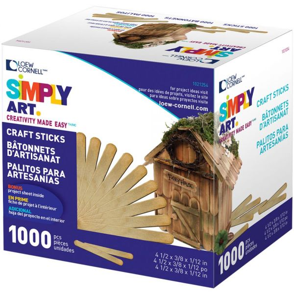 Simply Art Wood Craft Sticks