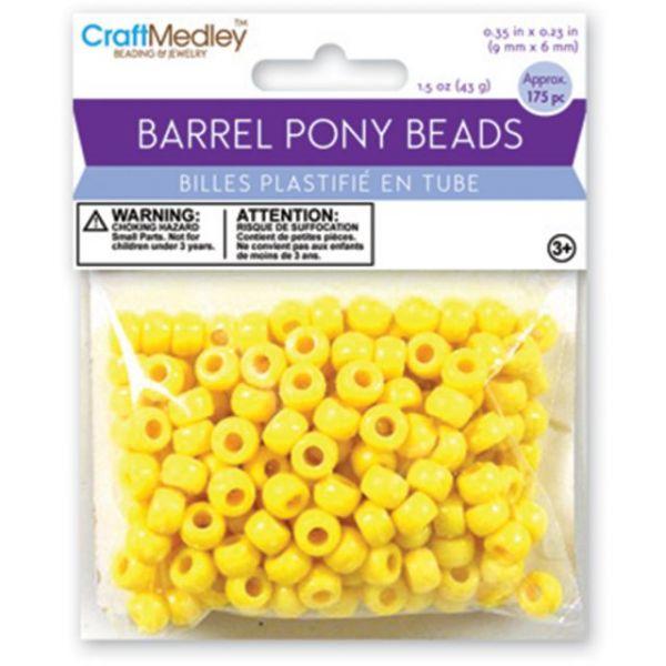 Barrel Pony Beads 6mmX9mm 175/Pkg