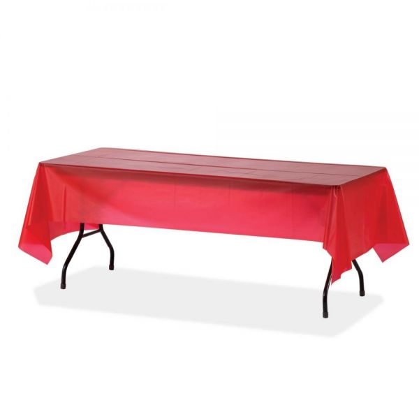 Genuine Joe Plastic Rectangular Table Covers