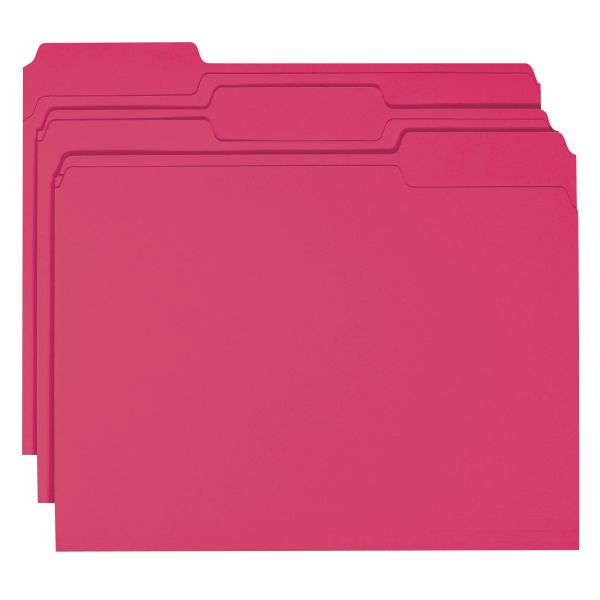 Smead Red Colored File Folders