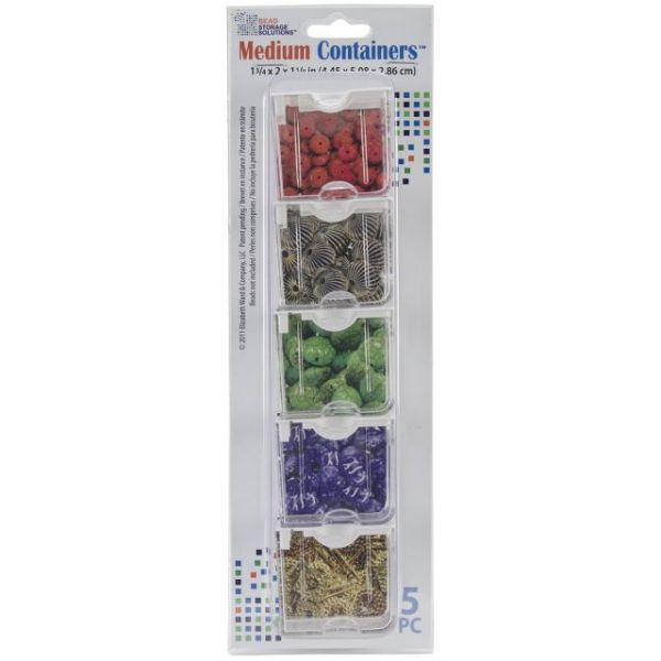"Elizabeth Ward's Medium Containers 1.75""X2""X1.125"" 5/Pkg"