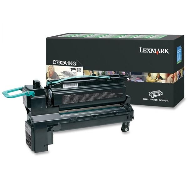 Lexmark C792A1KG Black Return Program Toner Cartridge