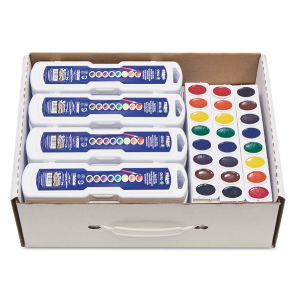 Prang Professional Watercolors, 8 Assorted Colors,Masterpack, 36/Set