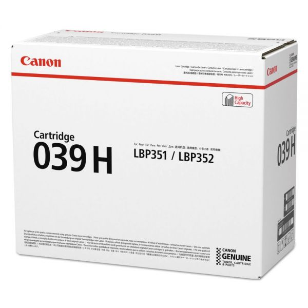 Canon 0288C001AA (039H) High-Yield Ink, Black