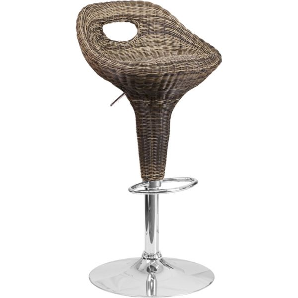 Flash Furniture Wicker Adjustable Height Stool