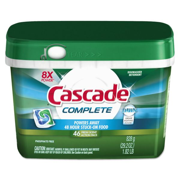 Cascade Complete Dishswasher Soap ActionPacs