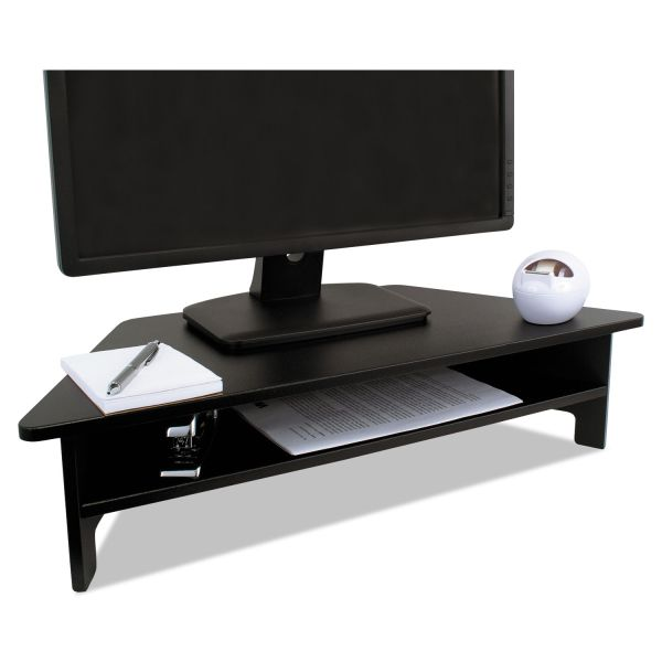 Victor High Rise Collection Monitor Stand, 27 x 11 1/2 x 6 1/2-7 1/2, Black