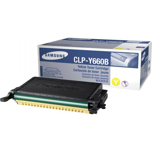 Samsung CLP-Y660B Yellow Toner Cartridge