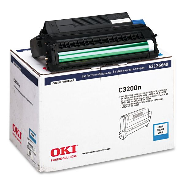 Oki Type C6 Cyan Image Drum For C 3200 and C 3200N Printers