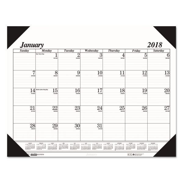 House of Doolittle Monthly Desk Pad Calendar