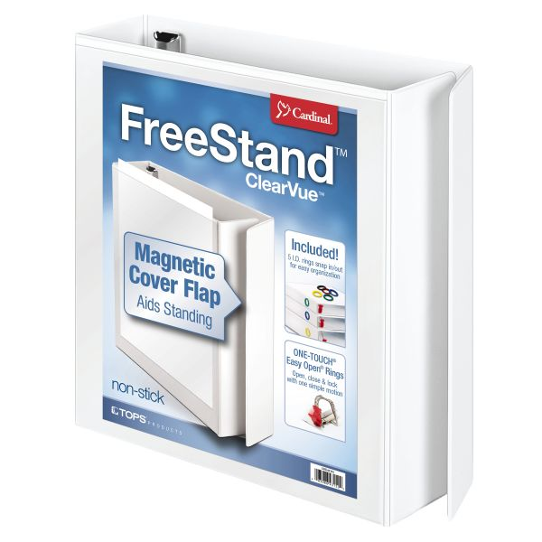 "Cardinal FreeStand 2"" 3-Ring View Binder"