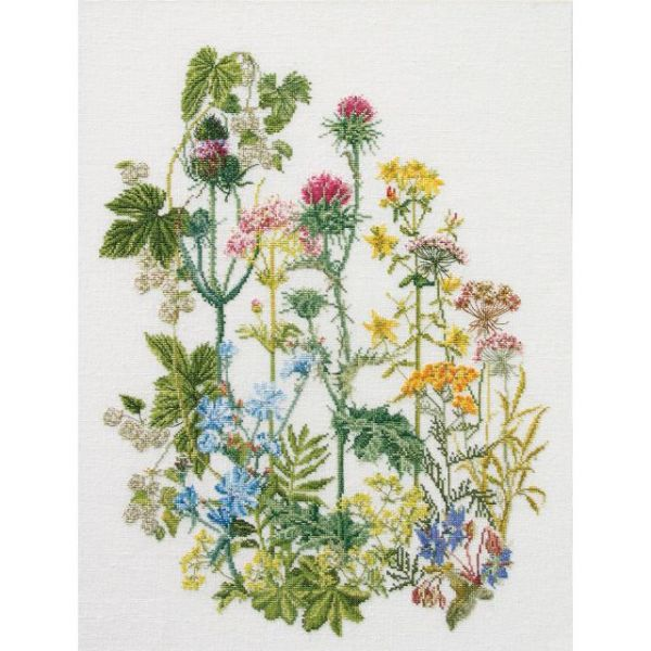 Herb Panel On Linen Counted Cross Stitch Kit