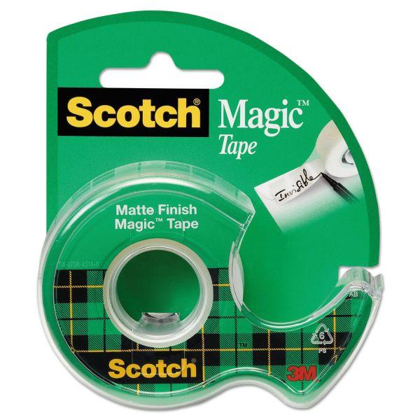 """Scotch Magic Tape in Handheld Dispenser, 3/4"""" x 300"""", 1"""" Core, Clear"""