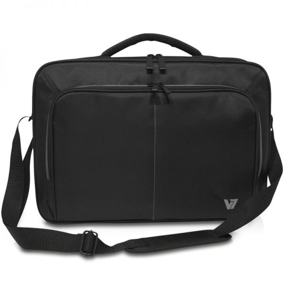 "V7 Vintage CCV2-9N Carrying Case for 17"" Notebook - Black, Gray"