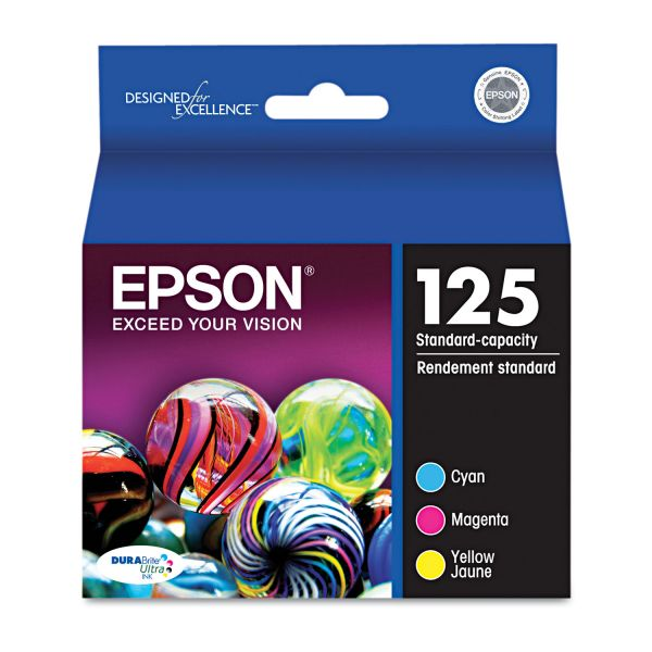 Epson 125 Color Combo Pack Ink Cartridges (T125520)