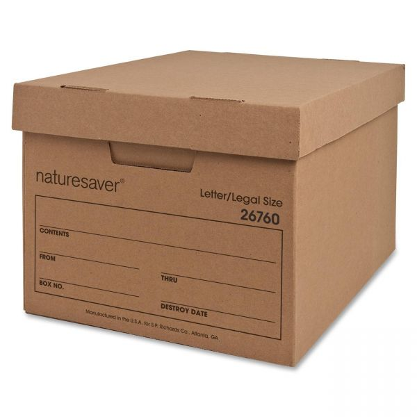 Nature Saver Recycled Storage Boxes With Lift-Off Lids