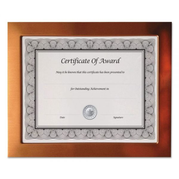 NuDell Copper Finish Metal Document/Photo Frame, 8 1/2 x 11