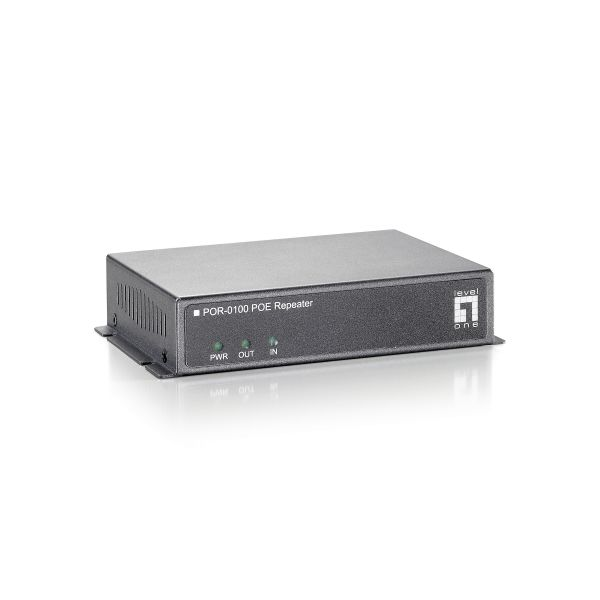 LevelOne POR-0100 Indoor 1 Port PoE Repeater
