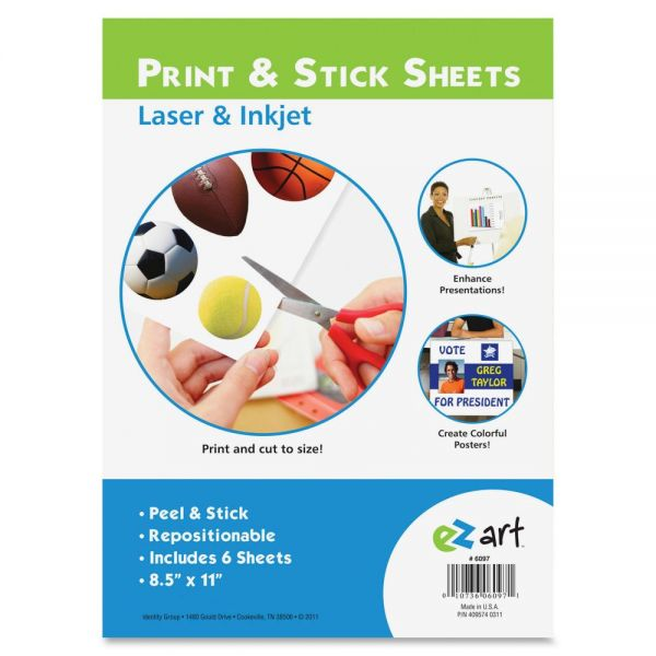 U.S. Stamp & Sign Print/Stick Letter Size Sheets